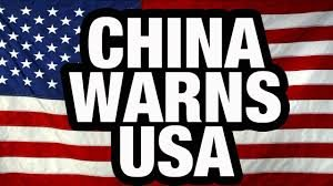 china warns usa
